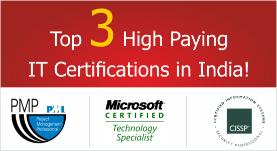 Top 3 High Paying IT Certifications in India
