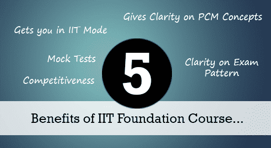 Benefits of IIT Foundation Course