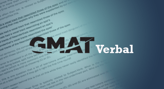 GMAT Verbal Section
