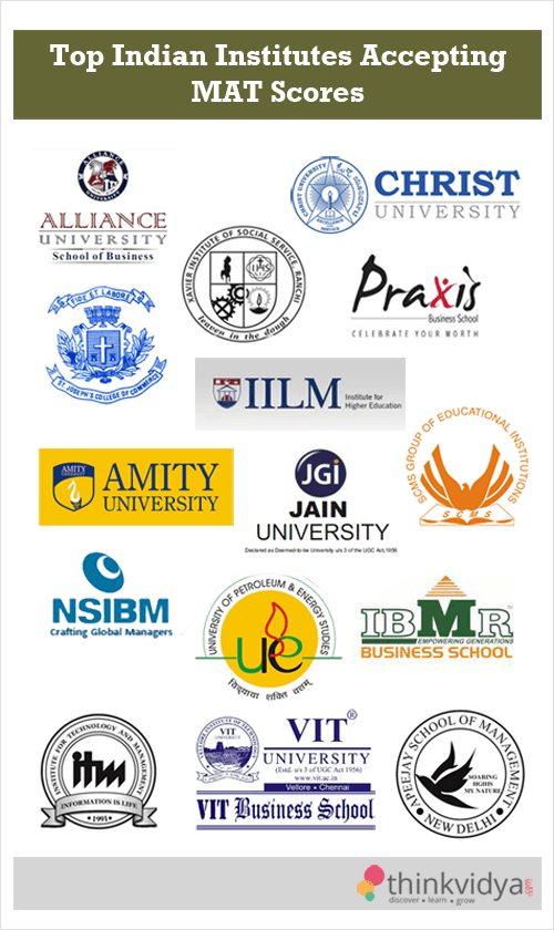 Top Institutes accepting MAT scores