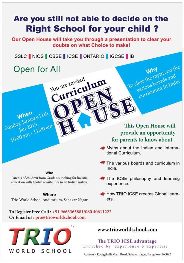 TRIO World School's Cirriculum Open House