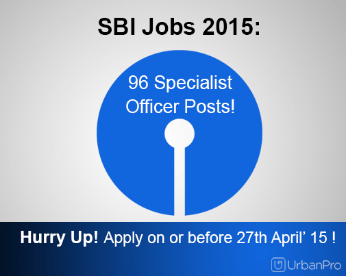 state bank of India: 96 specialist officer posts